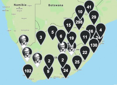 KFC South Africa Store Locations